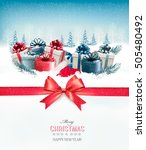 merry christmas background with ... | Shutterstock .eps vector #505480492