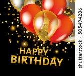 balloons happy birthday on... | Shutterstock .eps vector #505494286