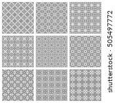 set of different seamless... | Shutterstock .eps vector #505497772