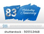 83rd anniversary logo with blue ...   Shutterstock .eps vector #505513468