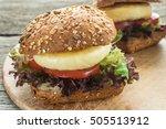 Close Up Sandwich With Halloum...