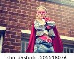 superhero baby girl brave... | Shutterstock . vector #505518076