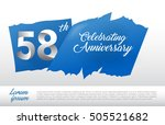 58th Anniversary Logo With Blu...