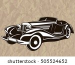 retro muscle car vector... | Shutterstock .eps vector #505524652