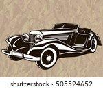 retro muscle car vector... | Shutterstock .eps vector #505524652