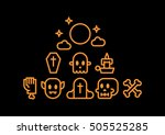halloween background happy... | Shutterstock .eps vector #505525285