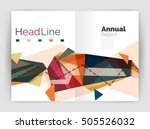 triangles and lines  annual... | Shutterstock .eps vector #505526032