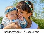 adorable tender portrait of a...   Shutterstock . vector #505534255