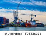 Large Container Vessel Unloade...