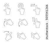 touch gesture vector icons | Shutterstock .eps vector #505541266