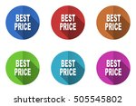 flat design vector best price... | Shutterstock .eps vector #505545802