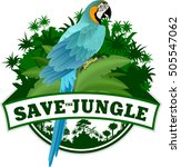 vector jungle emblem with... | Shutterstock .eps vector #505547062