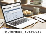 mortgage application home loan... | Shutterstock . vector #505547158