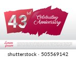 43rd anniversary logo with red... | Shutterstock .eps vector #505569142