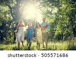 bonding cheerful leisure... | Shutterstock . vector #505571686