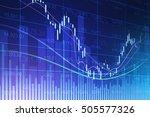 stock exchange concept  vector... | Shutterstock .eps vector #505577326