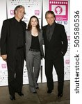 Small photo of Director Ricardo Preve, Mia Maestro and Edward James Olmos at the LALIFF screening of 'Chagas: A Hidden Affliction' held at the Egyptian Arena Theatre in Hollywood, USA on October 7, 2006.