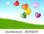 bunch of colorful heart shape... | Shutterstock .eps vector #50558557
