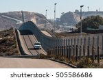 border patrol vehicle... | Shutterstock . vector #505586686