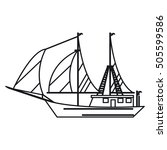 isolated sailboat ship design | Shutterstock .eps vector #505599586