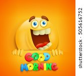 good morning concept card with... | Shutterstock .eps vector #505616752