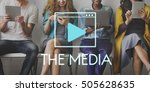 media audio player blog concept   Shutterstock . vector #505628635