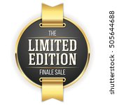 black limited edition badge ... | Shutterstock .eps vector #505644688