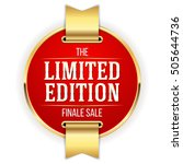 red limited edition badge ...   Shutterstock .eps vector #505644736