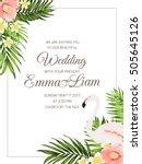 wedding ceremony invitation... | Shutterstock .eps vector #505645126