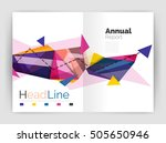 unusual abstract corporate... | Shutterstock .eps vector #505650946