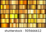 set of gold gradients.golden... | Shutterstock .eps vector #505666612