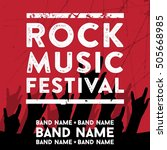 rock music poster template | Shutterstock .eps vector #505668985