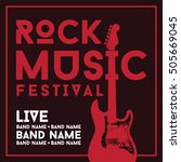 rock music poster template | Shutterstock .eps vector #505669045