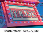 ticket booth at county fair | Shutterstock . vector #505679632