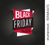 black friday sale sticker or... | Shutterstock .eps vector #505681672