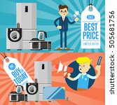 best prise and buy today flyers ... | Shutterstock .eps vector #505681756