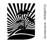 emblem style tropical island... | Shutterstock .eps vector #505683712