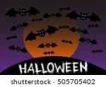 happy halloween night day  | Shutterstock .eps vector #505705402