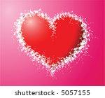 heart made of flowers | Shutterstock . vector #5057155