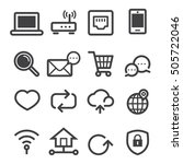 internet icons | Shutterstock .eps vector #505722046
