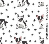 seamless pattern with cute... | Shutterstock .eps vector #505729276