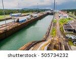 gatun locks  part of panama... | Shutterstock . vector #505734232