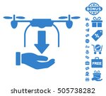 unload drone hand icon with...