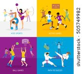 sport games concept with... | Shutterstock .eps vector #505749982