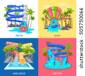 aquapark design concept with... | Shutterstock .eps vector #505750066