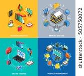 business management analytics... | Shutterstock .eps vector #505750072
