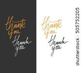 thank you card. modern...   Shutterstock .eps vector #505752205