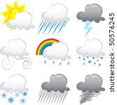 vector illustration of 9 cloud...