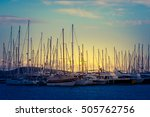Silhouettes Of Sail Vessel In...