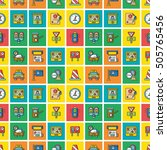 icon set traffic vector | Shutterstock .eps vector #505765456